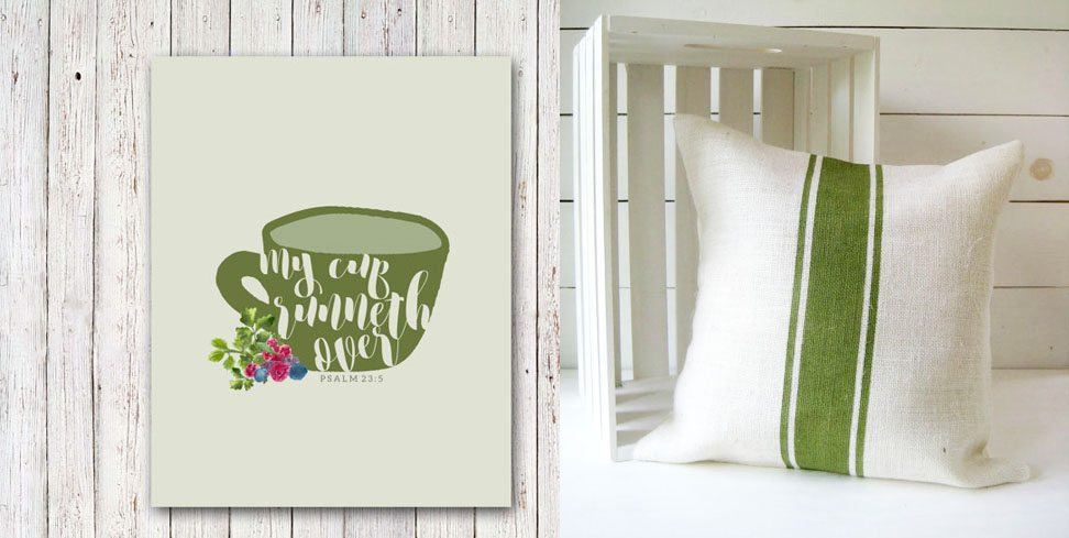 Fall Art Prints and Pillows, Pillow and Wall Art Combinations, Farmhouse, Modern, Herbs, Rustic by @CraftivityD