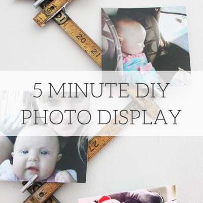 5 Minute DIY Photo Display