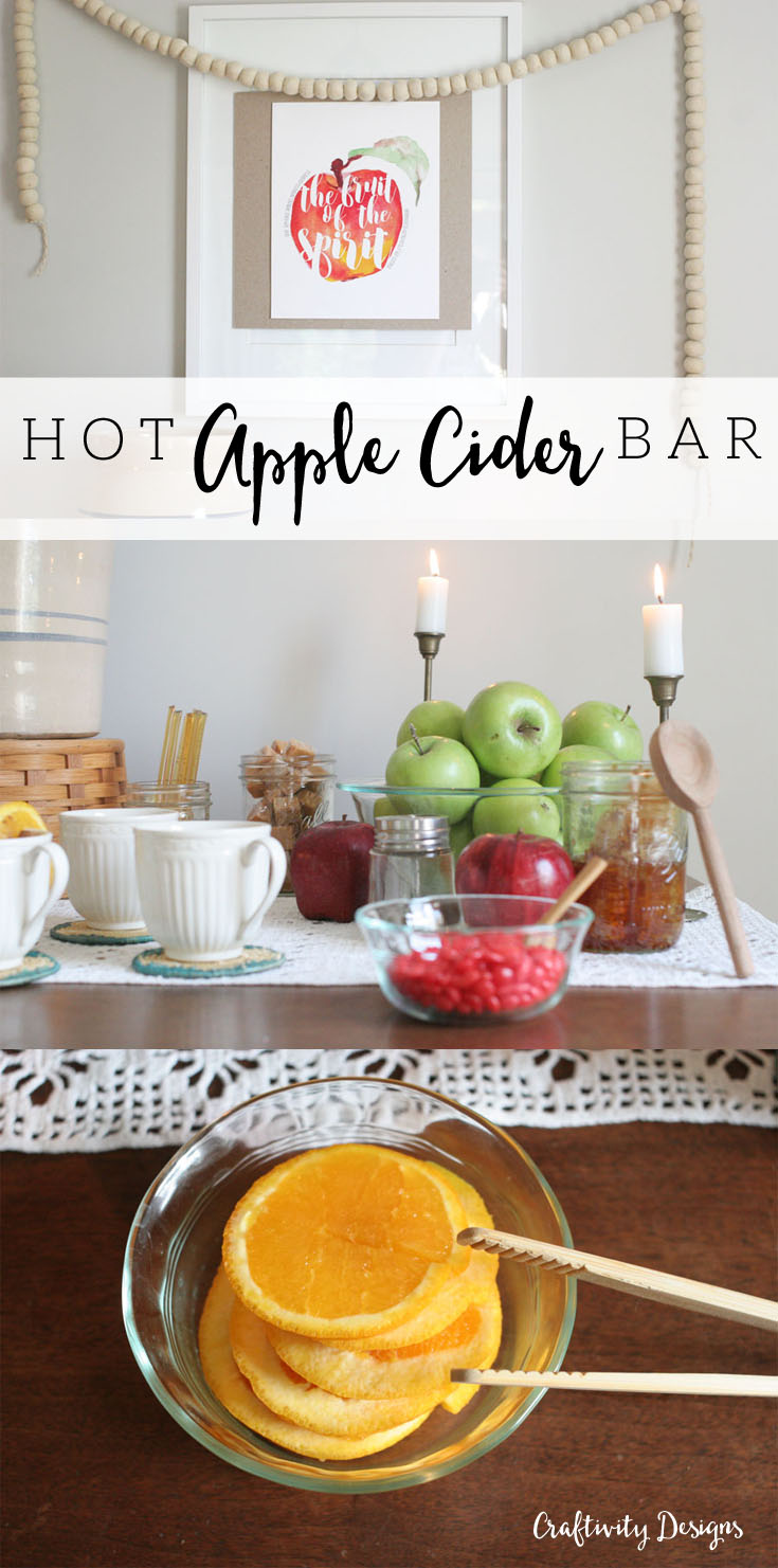 apple-cider-bar-craftivity-designs-title-What a tasty treat!? You'll be salivating after reading all the yummy details about how to set up a Hot Apple Cider Bar for your next party.