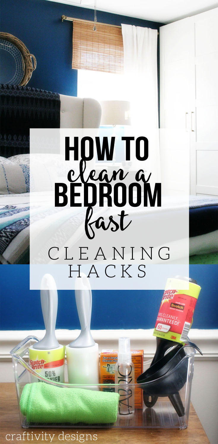 How to Clean a Bedroom Fast, 3 Bedroom Cleaning Hacks, Tips and Tricks, by @CraftivityD