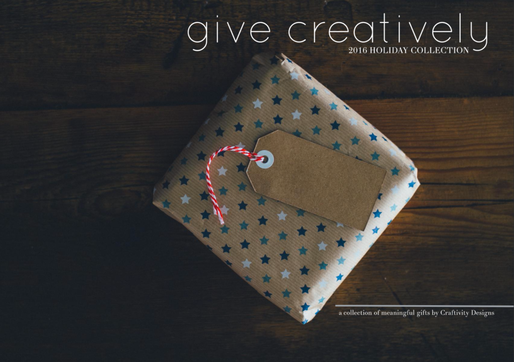 Would you like to Give Creatively this Christmas Season? Check out 25+ Creative, Meaningful gift ideas in this 2016 Holiday Look Book. by @CraftivityD