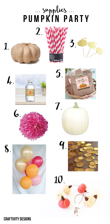 Pretty Pumpkin Party Ideas, by @CraftivityD