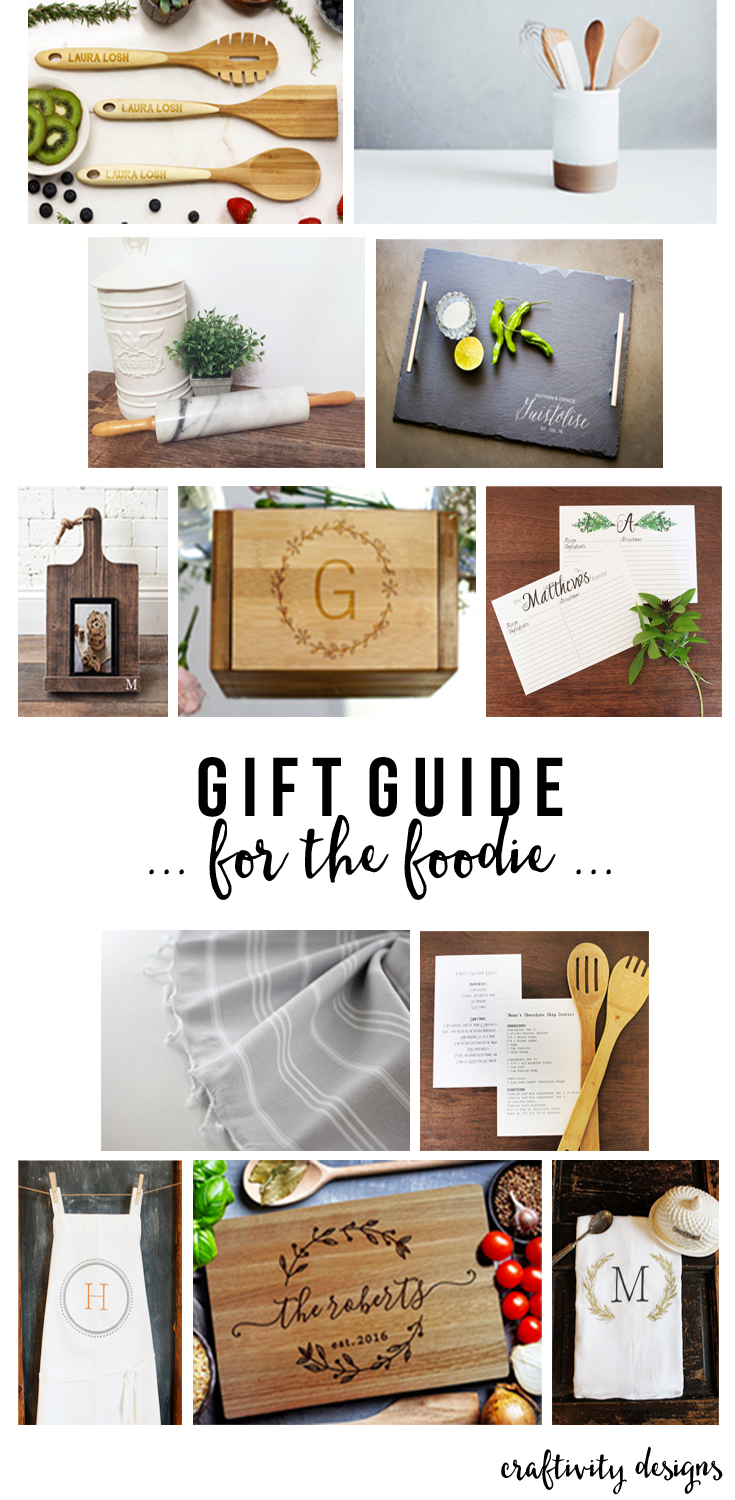 A Gift Guide for the Foodie, Foodie Gift Ideas, Gifts for a Chef, Baking, Baker, For the Cook by @CraftivityD