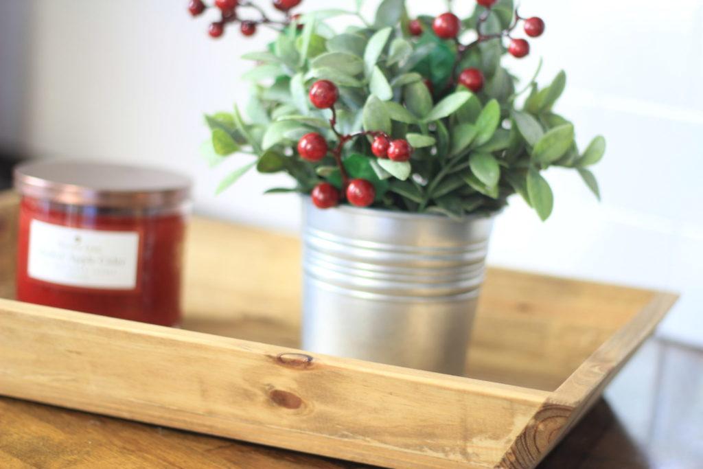 Handmade wood tray