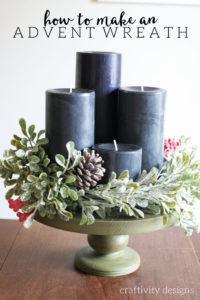 Celebrate the season with intention, by making this beautiful centerpiece. How to Make an Advent Wreath, DIY Advent Wreath, Modern Advent Wreath, by @CraftivityD