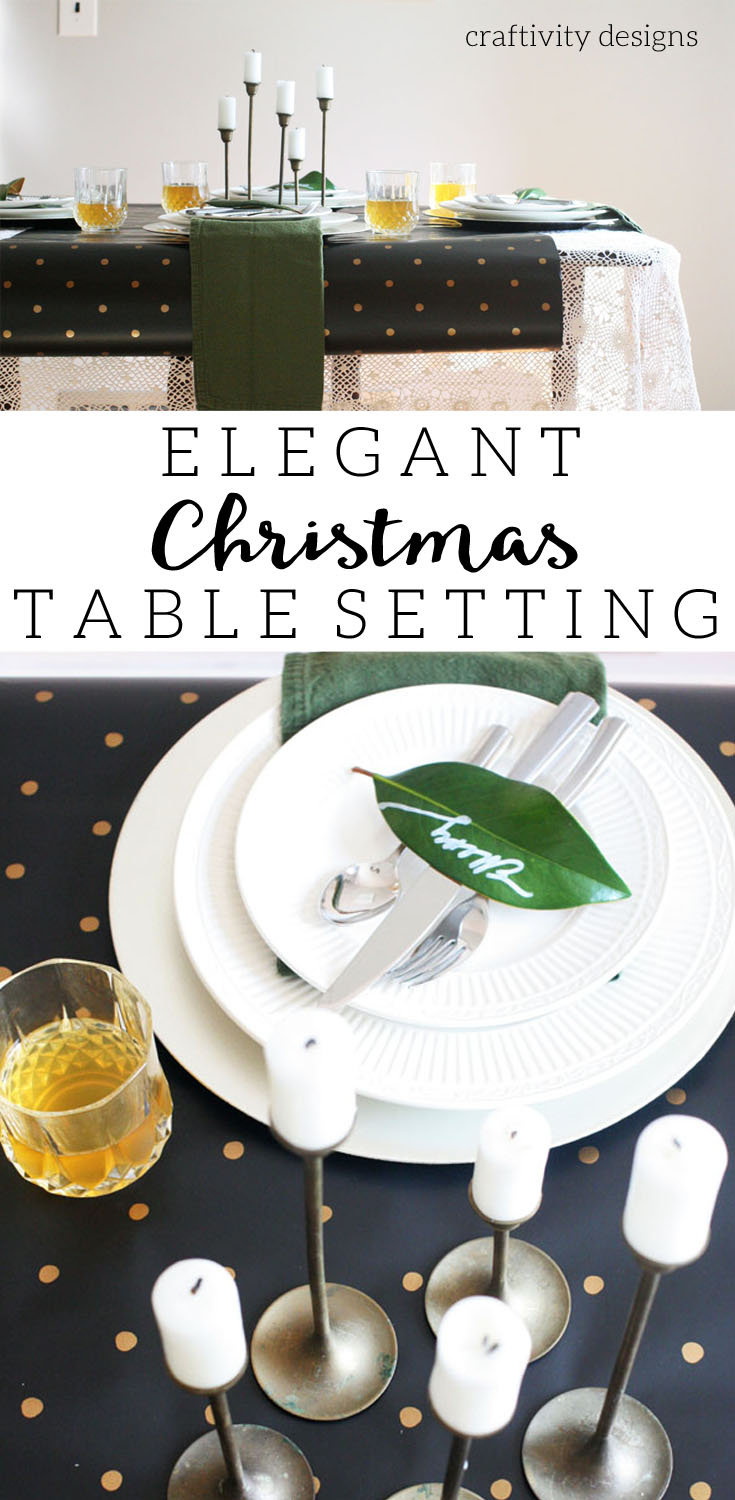 Elegant Christmas Table Setting with Black Gold Lace by @CraftivityD & Elegant Christmas Table Setting u2013 Craftivity Designs