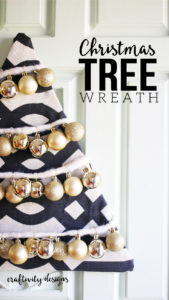 DIY Christmas Tree Wreath, Non-Traditional Christmas Wreath Idea, Ornament Wreath by @CraftivityD