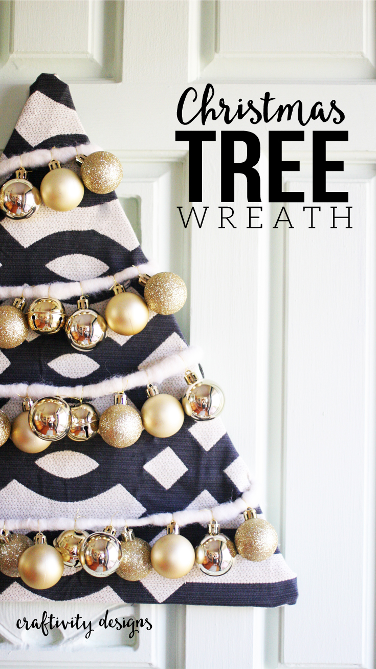 How to make a Beautiful DIY Christmas Tree Wreath – Craftivity Designs