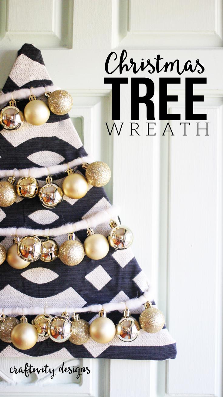 Diy Christmas Tree Wreath Part - 44: DIY Christmas Tree Wreath, Non-Traditional Christmas Wreath Idea, Ornament  Wreath By @