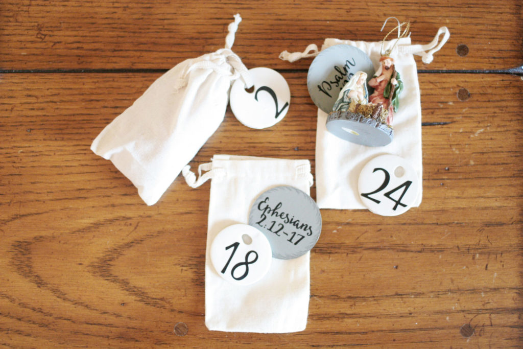 creative advent calendars - clay tag, scripture and ornament by Craftivitydesigns.com