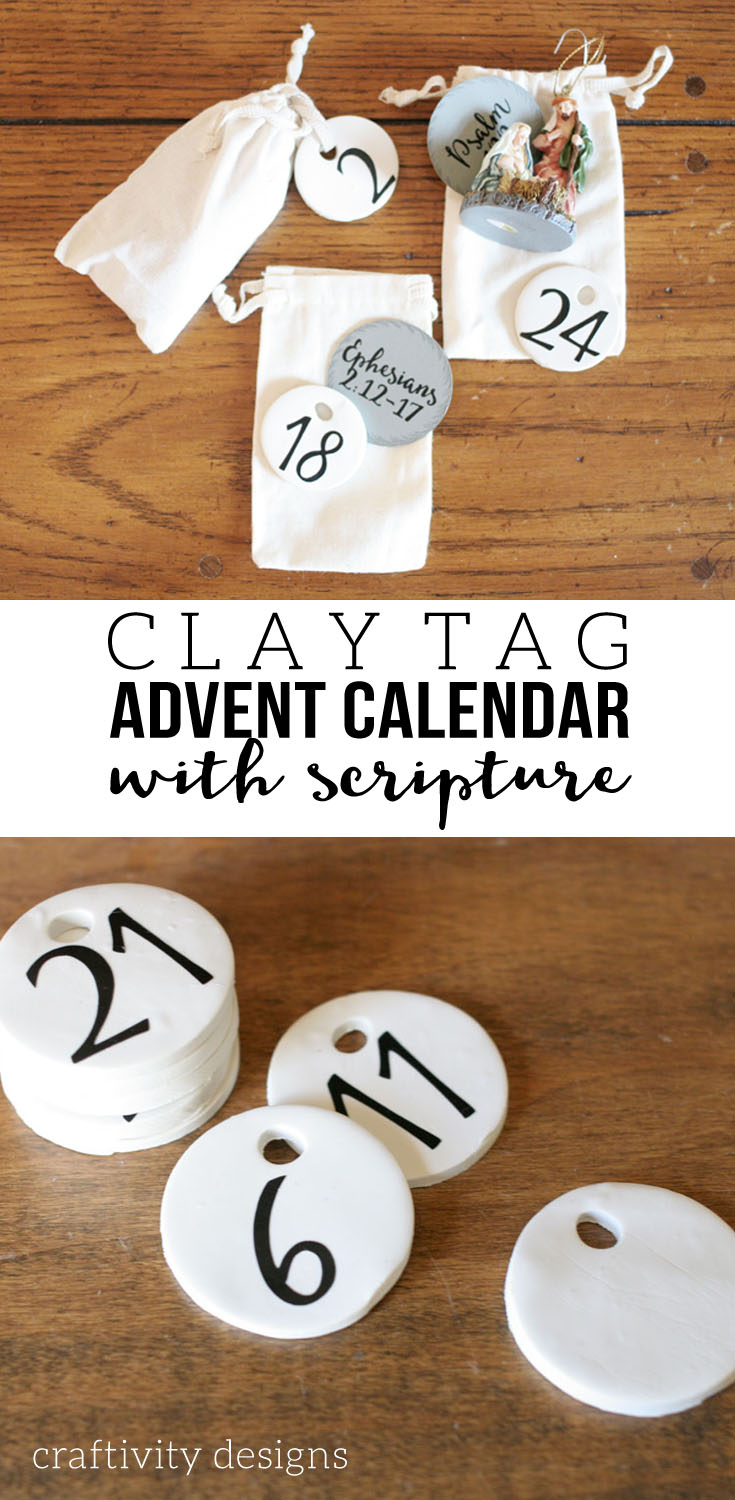 DIY Advent Calendar, Clay Advent Calendar, includes a Free Scripture Reading Printable by @CraftivityD