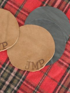 How to Make a Personalized Leather Coaster Set, Gift for Him, 12 Days of Craftmas, by @CraftivityD