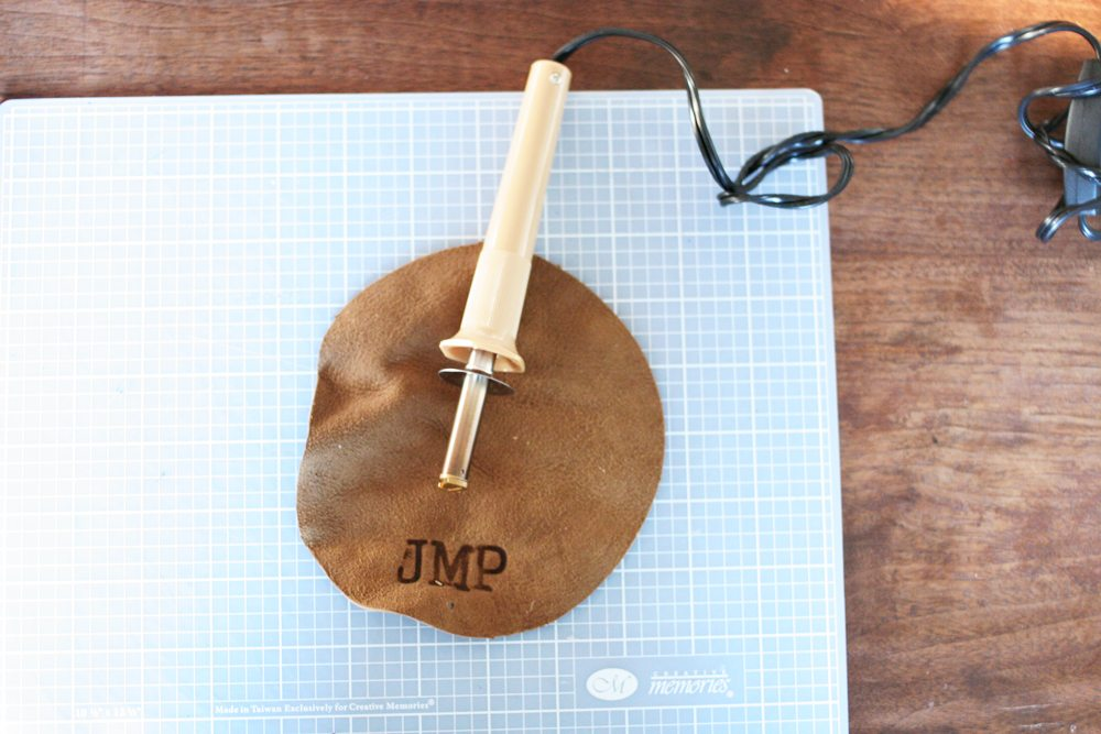 How to Make a Personalized DIY Leather Cord Keeper, Cord Wrap, Cord Taco, Gift for Him, 12 Days of Craftmas, by @CraftivityD