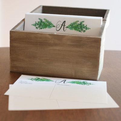Personalized Recipe Box + Recipe Cards