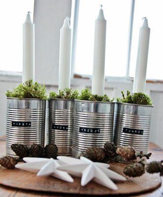 17 Modern Advent Wreath Ideas, DIY Advent Wreath, Modern takes on a Christmas Tradition by @CraftivityD