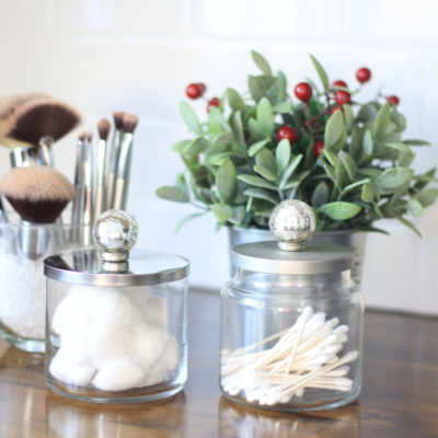 DIY Bathroom Organization Containers