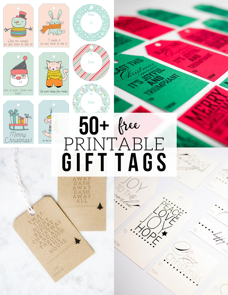 "50+ Free Printable Gift Tags, ""Twas the Night Before Christmas"" Minimalist Gift Tags, Free Printable by @CraftivityD"