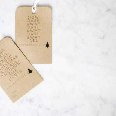 """Twas The Night Before Christmas"" Minimalist Gift Tags"