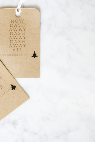 """Twas the Night Before Christmas"" Minimalist Gift Tags, Free Printable, Modern Gift Tags, Black and White Gift Tags, by @CraftivityD"