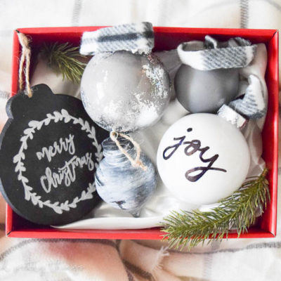 Farmhouse Style Ornament Set