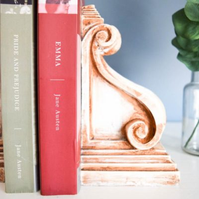 DIY Rustic Corbel Bookends