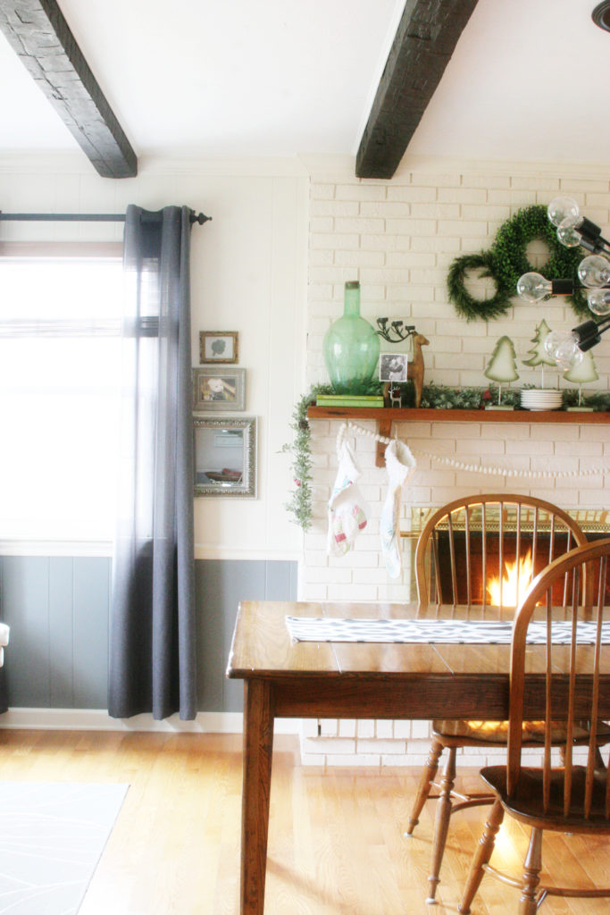 Painted Brick Fireplace, Farmhouse Christmas Home Tour, Rustic, Cottage by @CraftivityD