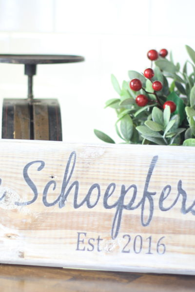 DIY Personalized Wood Sign