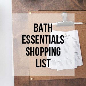 Bath Essentials Shopping List, Free Printable Library