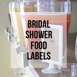 Bridal Shower Food Labels, Free Printable Library