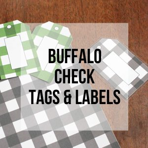 Buffalo Check Labels, Free Printable Library