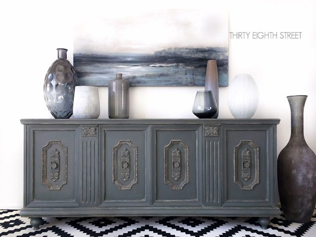 Gray Furniture Makeovers with paint colors by @CraftivityD