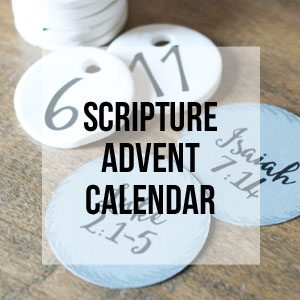Scripture Advent Calendar, Free Printable Library