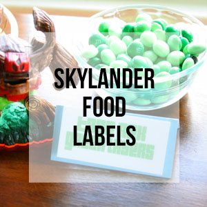 Skylander Food Labels, Free Printable Library