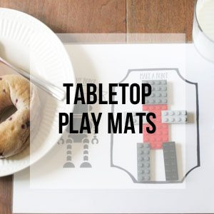 Tabletop Play Mats, Free Printable Library