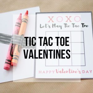 Tic Tac Toe Valentines, Free Printable Library