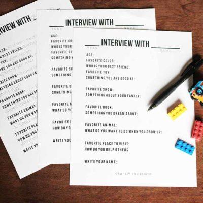 Yearly Interview Questions for Kids