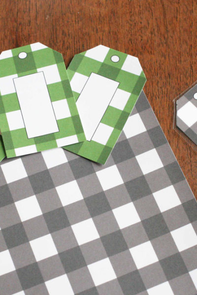 Get 18 different Buffalo Check Labels and Tags in 3 Styles and 6 Colors, Plaid, Gingham, Organization, Click the image to go to @CraftivityD and download the FREE printable.