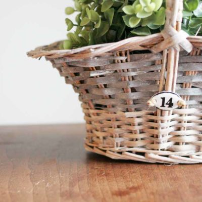 DIY Rustic Basket Makeover
