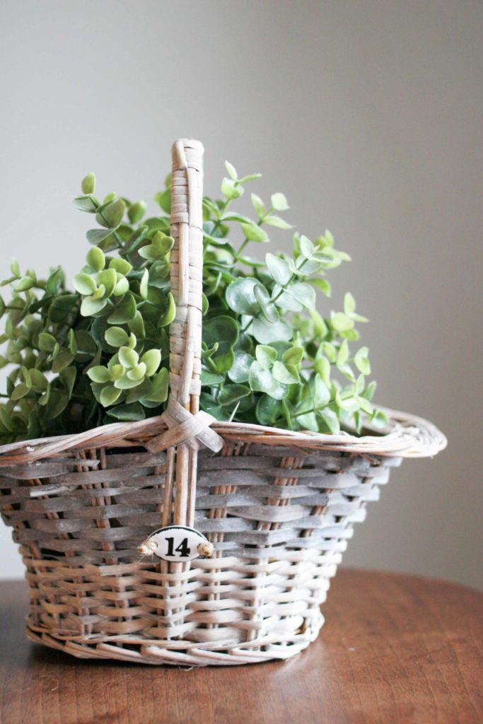 How to make a DIY Rustic Basket. Turn a basic basket into a farmhouse style basket. Thrift Store Upcycle monthly challenge. by @CraftivityD