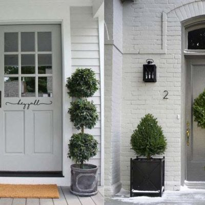 Exterior Colors | Gray Front Porch Ideas