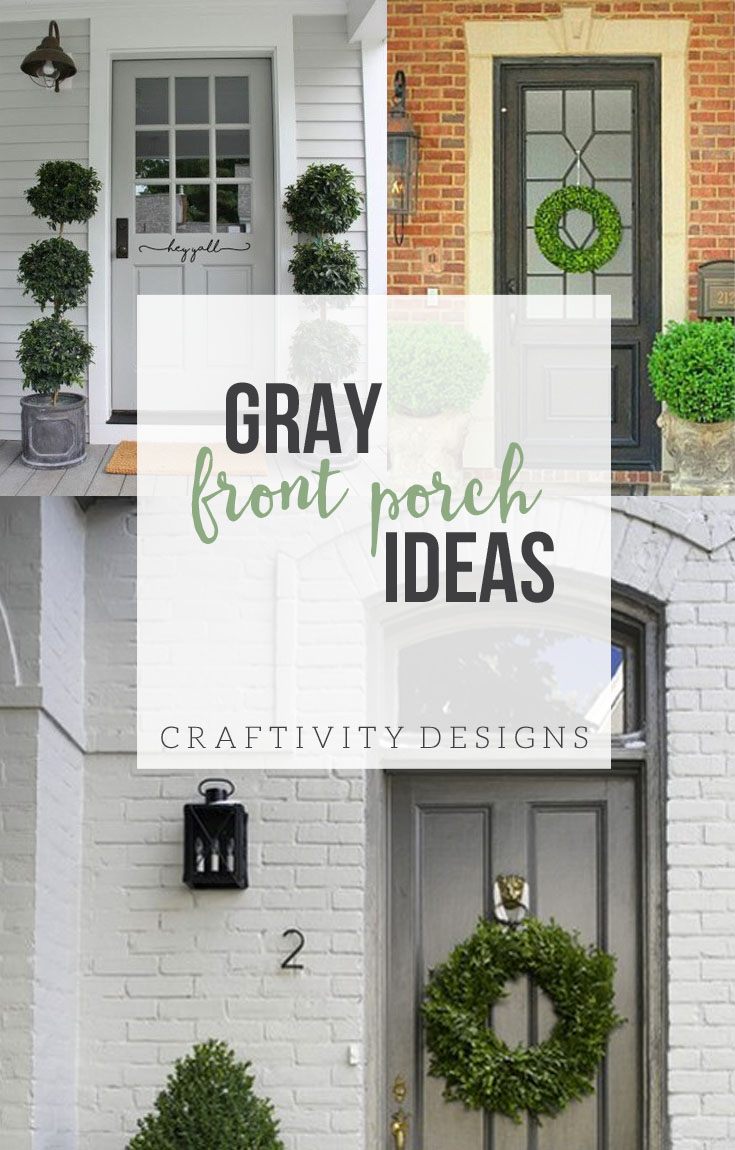 Exterior Colors Gray Front Porch Ideas Craftivity Designs - Front porch makeover ideas
