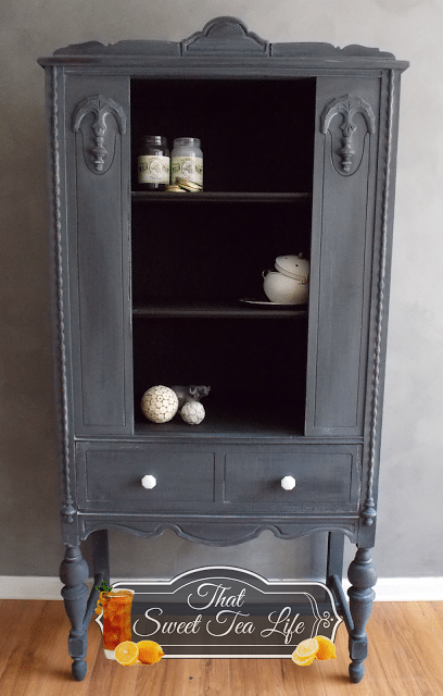 Gray Furniture Makeovers, Gray Paint Colors by @CraftivityD