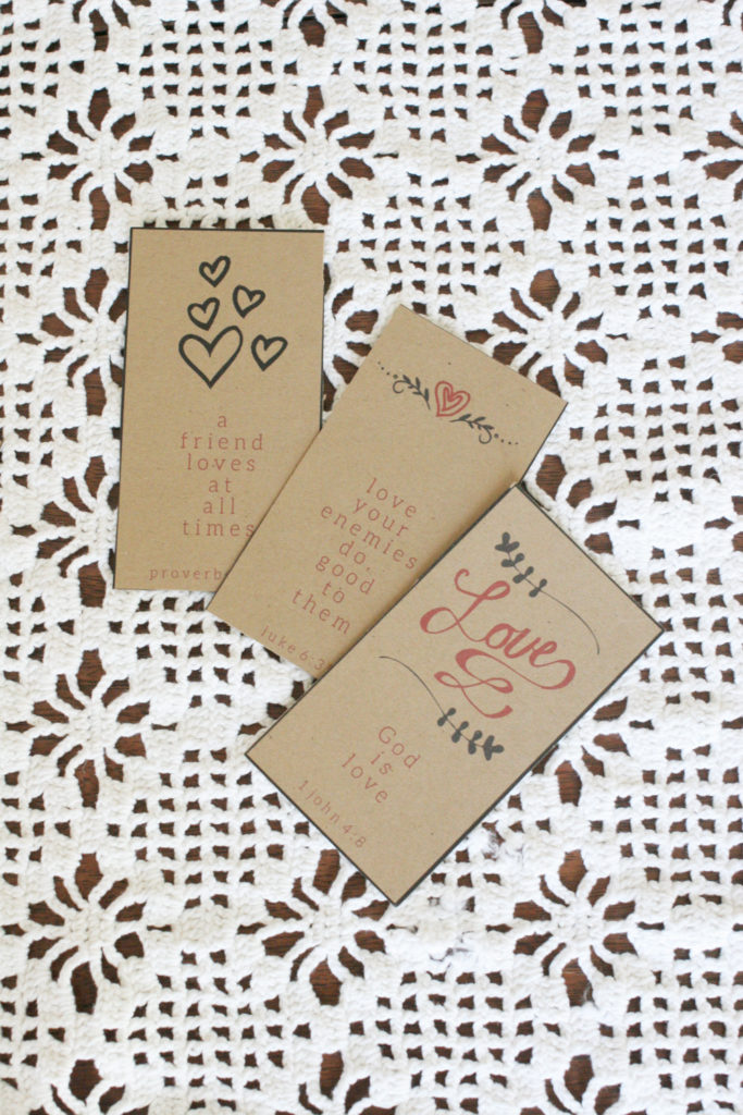 Valentine's Day Bible Verse Cards, Free Printable, Lunch Box Notes, Valentine's Card, by @CraftivityD