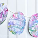 12 Easter Crafts for Kids, Marbled Easter Egg, Easter Craft Ideas