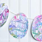 12 Easter Crafts for Kids, Marbled Easter Egg, Easter Craft Ideas
