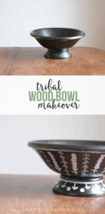 DIY Tribal Wood Bowl Makeover, Thrift Store Upcycle, Update a wooden bowl with a tribal look to store keys, small toys, etc. by @CraftivityD