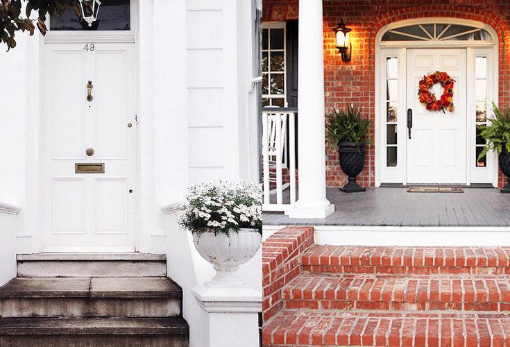 Exterior Colors | White Front Door Ideas
