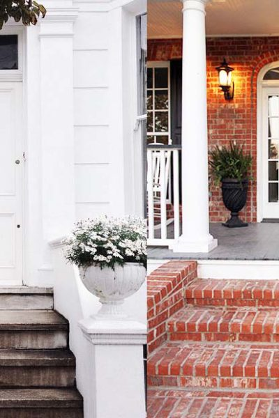 Exterior Colors | White Front Door Ideas