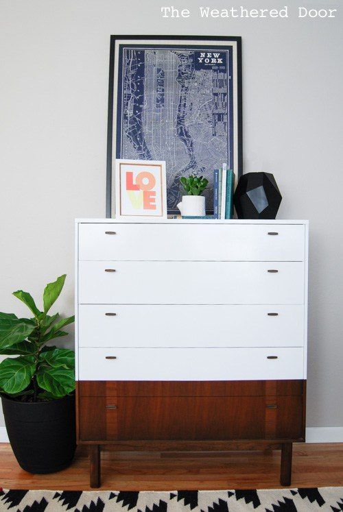 White Mid-Century Dresser - by Weathered Wood