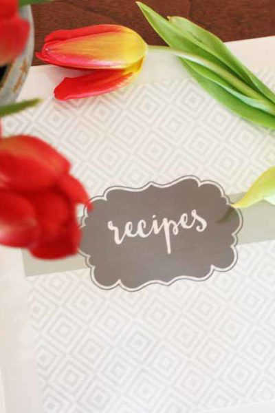 Simple and Quick Recipe Binder with Free Printables